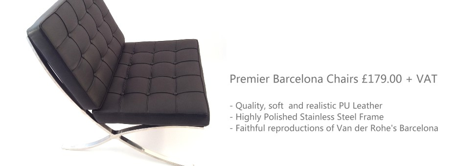 barcelona chairs from designer seating